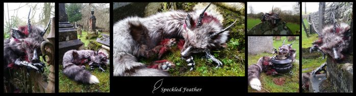 FOR SALE: Black/silver Dragon Dog Soft Mount by Speckled-Feather