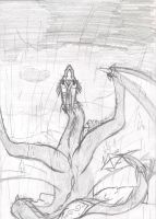 .: What falls -sketch- :. by SapphireItrenore