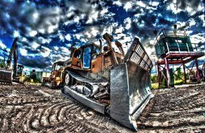 BULLDOZER HDR by skyblue-13