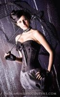 Black Steampunk Corset 02 by Angirias