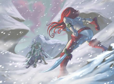 Red Sonja vs Drizzt Do Urden by ZEBES