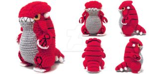Groudon Amigurumi by icrochetthings