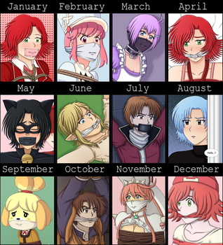2016 summary of art by MahouShoujoRuby
