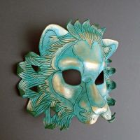 Verdigris Leather Lion Mask by merimask