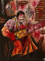 Leatherface by BlackCoatl