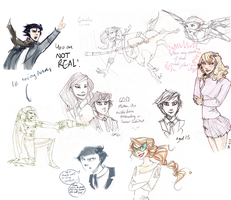 Yet another artemis sketchdump by Moozy6
