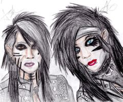 BVB- Ashley and Andy by Evilwolfangel-EWA