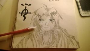 Edward Elric Drawing by TiedToReality