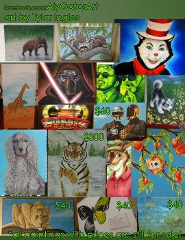 Paintings for sale by T-Ingles