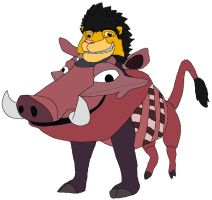 Johnny Dressed as Pumbaa by kylgrv