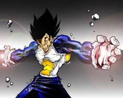 Vegeta's Rage by SouthernDesigner