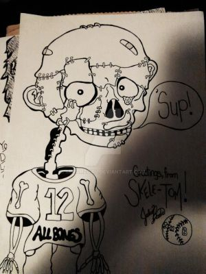 Skele-Tom (Baseball Player) by SkramzGirl