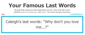 Famous Last Words by IriisKitty