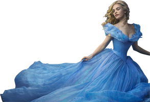 Lily James as Cinderella PNG by nickelbackloverxoxox
