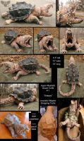 Snappy - The Gourd Snapping Turtle by ART-fromthe-HEART