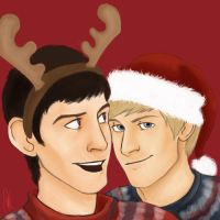 Merlin - christmas party by kneelmortals