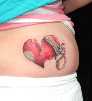 You repaired that broken heart by tatuato