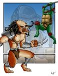Predator Vs Ninja Turtle by BrainTreeStudios