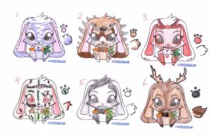 Adoptable Bunnehs by TheFrymon