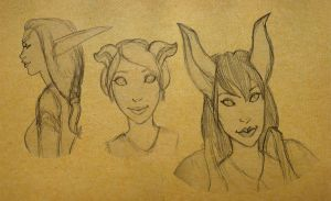 Sketches from Earthen Ring by Elorviel