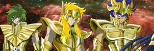 Saint Seiya Gold Saints by Maniaxoi