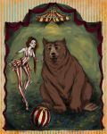Eleanor and Bear Escape from the Circus by LaraBerge