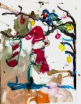 Christmas snowman by LaurieLefebvre