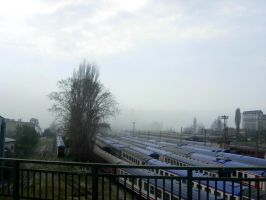 Trains and fog by ISIK5