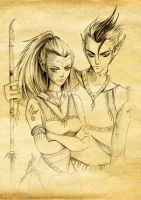 Titana and Titan by Maggy-P