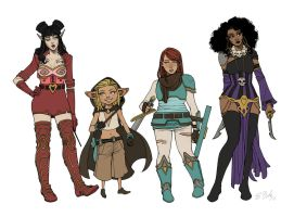 Rat Queens Lineup by ElizabethBeals