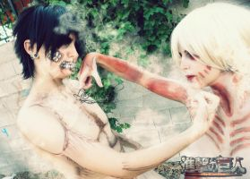 Battle of Titan - Annie Titan Form by LauraNikoPhantomhive