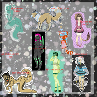 Adoptables Sale #2 by BakedGewds