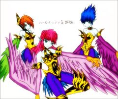 Harpie Lady Sisters-4 Color by HarpieLadyFan