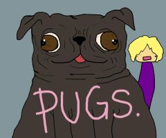 My lovely Pug, Mordecai by Ashelectric