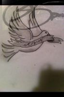 Dove tattoo by DontEvenTripBro