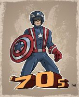 '70s Captain America by DanielMead