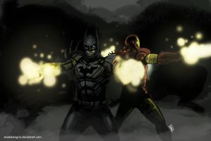 Batman/Ironman by ExiaLohengrin