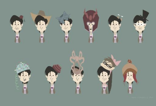 Eleven hats for Eleven by nna