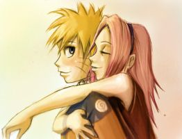 Naruto and Sakura by Linouuu