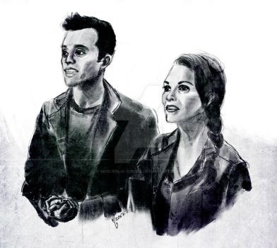 team medical // the 100 // abby and jackson by miss-ninja-cookie