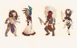 African-esque Characters by Kirema