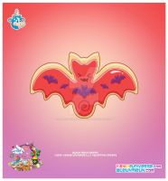 Kawaii Bat Sugar Cookie by KawaiiUniverseStudio
