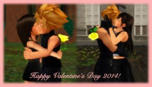 Cloud Strife x Tifa Lockhart - Love and Roses by rev-rizeup