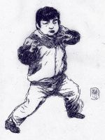 chinese kid by MikkelSommer
