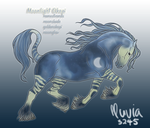 Moonlight Okapi Design - Lunaire by letrainfalldown