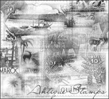 Antique Stamps by exotika-brushes