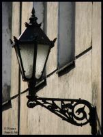 The Lamp on a street of Leszno by fiamen