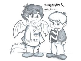Hobbitlock: Smauglock and Johnbo by Alexbee1236