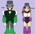 Megaman OC - Hypnoman's Assistants, Funk and Opera by SilverKazeNinja