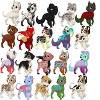 Puppy adoptables NAME YOUR PRICE by MoBAdopts
